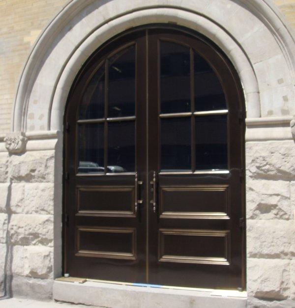 custom stainless steel doors