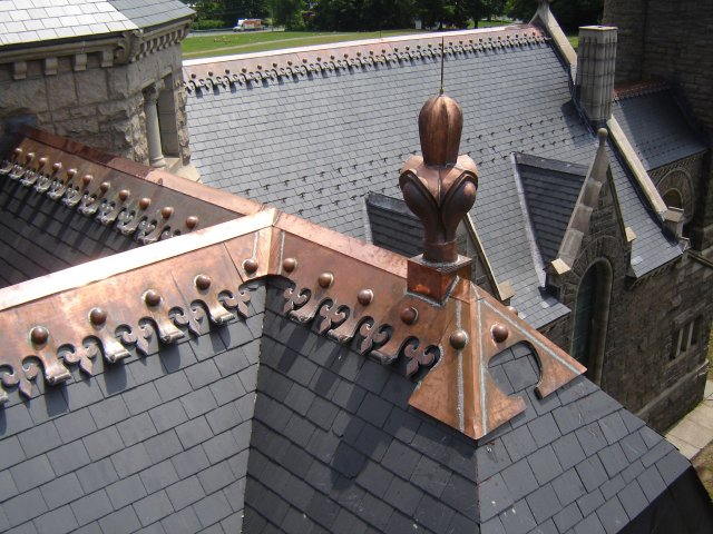 copper roof cresting and finial - Roof Finials