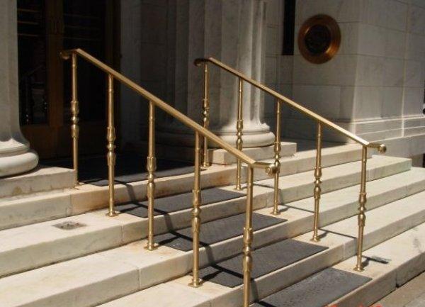 Exterior Bronze Handrails - Keicher Metal Arts