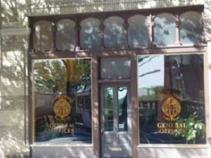 bronze storefront