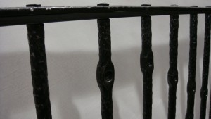 "Pickets are a simple repeated pattern formed ""hot"" into the bars."
