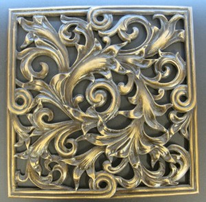 Replicated cast bronze grill