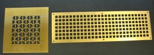 Punched Bronze Heater Grills
