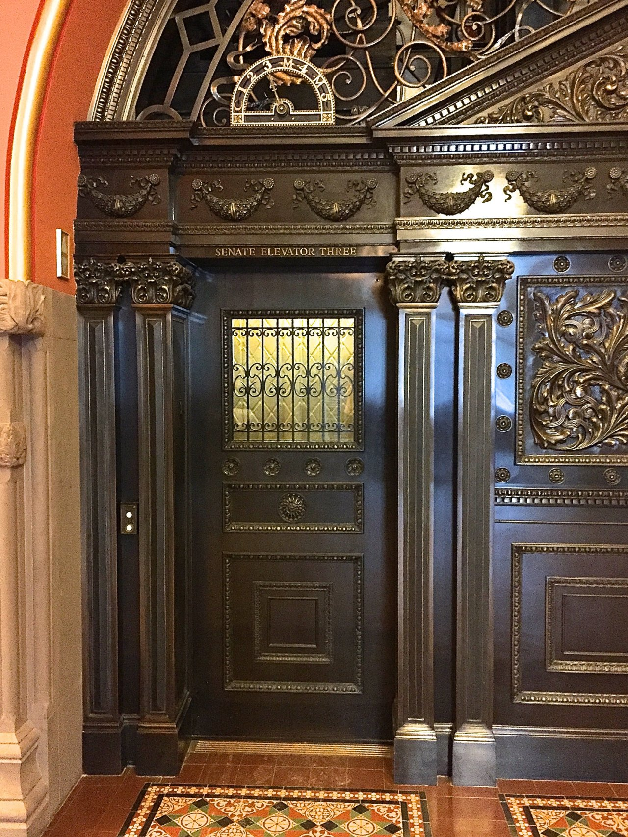 Historic Bronze Elevator Entrance Reproduction Keicher