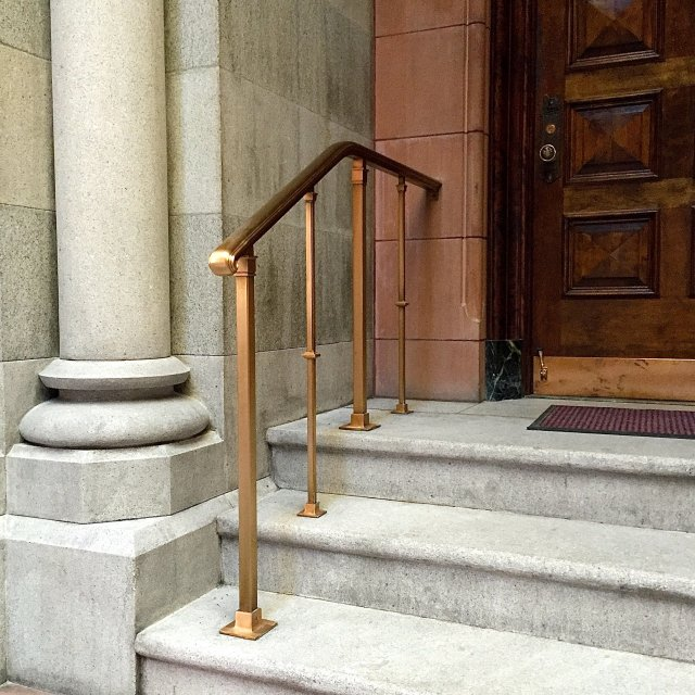 Fabricated Bronze Handrails Keicher Metal Arts