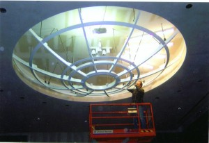 Installation of the light diffuser