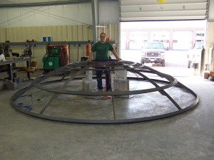 Fabrication of the light diffuser in our shop.